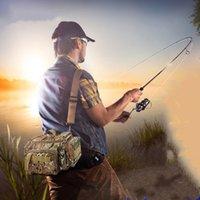 Wholesale lures 17cm for sale - Group buy Waterproof Hunting Bag Fishing Bag Large Capacity Multifunctional Lure Fishing Tackle Pack Outdoor Shoulder Bags cm