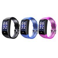 relógio de moda usb venda por atacado-Moda smart watch 1.14 cor da tela de freqüência cardíaca monitor de pressão arterial esportes pedômetro esportes de saúde usb recarregável
