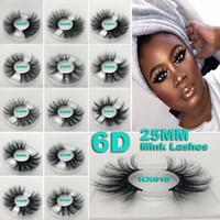 natur c großhandel-NEUE 25mm 3D Nerz Wimpern 5D Nerz Wimpern Natürliche Falsche Wimpern Big Volumn Nerz Wimpern Luxus Makeup Dramatische Wimpern