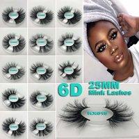 3d kirpik gözlüğü toptan satış-YENI 25mm 3D Vizon Kirpik 5D Vizon Kirpikler Doğal Yanlış Kirpik Büyük Volumn Vizon Kirpikler Lüks Makyaj Dramatik Lashes
