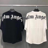 schläger tee großhandel-Neue Übergröße Palm Angels Männer Frauen T Shirts Beste Qualität Sommer Stil Fledermaushemd Palm Angels T-shirts Palm Angels Herren Top Tees