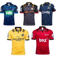 7e79cdb0359 Top quality 2018 NRL Chiefs Rugby Super Rugby Highlanders Hurricanes  Crusaders Blues Home Rugby Jersey Short Sleeve Men Shirts Size S-3XL