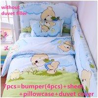 Wholesale baby boy cot bedding sets resale online - Promotion Baby Cot Bedding Set Cotton bed linen Baby Set Kit Boy Crib cm