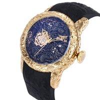 livre dhl ver homens venda por atacado-atacado EUA livre DHL INVICTA Men Watch coleção de verão China Dragon Rubber Strap Moda relógio de quartzo de Luxo