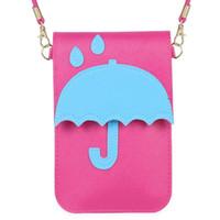 telefone guarda-chuva venda por atacado-Moda Feminina Meninas Ombro Crossbody Mini Saco Do Mensageiro Novo Guarda-chuva Dos Desenhos Animados PU Bolsa de Telefone Celular de Alta Qualidade