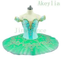 ingrosso menta verde tutu-Costumi danza classica per adulti Mint Green professionale Tutù Gonna Donne Verde pallido Schiaccianoci Balletto Classico tutu abito da ballo Ballerina per la femmina