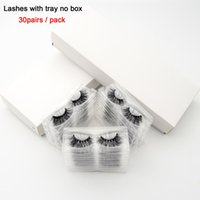Wholesale pack false lashes for sale - Group buy visofree pairs pack D Mink Lashes With Tray No Box Hand Made Full Strip Lashes Mink False Eyelashes Makeup eyelashes cilios