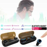 ipx7 bluetooth оптовых-T16 TWS Беспроводные Bluetooth Наушники 5.0 Наушники Сенсорный Гарнитура IPX7 Водонепроницаемые Бинауральные Стерео Наушники Для iPhone X X Макс 8 Samsung