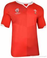 home printing venda por atacado-WALES EM CASA RUGBY CAMPEONATO DO MUNDO 2019 JERSEY Japão Samoa World Cup FIJI camisa em casa Jersey equipe nacional de rugby jerseys Tamanho S-XXXL (pode imprimir)