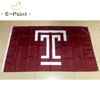 Wholesale decoration temple online - Flag of NCAA Temple Owls polyester Flag ft ft cm cm Flag Banner decoration flying home gard