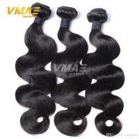 düz dalgalar saç toptan satış-Bakire Brezilyalı Saç Vücut Dalga 3 Demetleri Çok Ipeksi Saç Atkı Işlenmemiş Insan Saçı Hiçbir Kokusu Yumuşak Pürüzsüz Ürün uzantıları