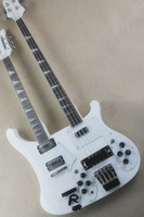 Wholesale custom electric guitar necks for sale - 12 string string white double neck electric guitar with white pickup rosewood scale custom service