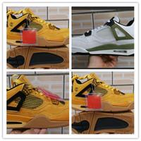 en iyi iv toptan satış-2019 Yeni Gelmesi Jumpman 4 IV Qiao 4 Buğday Altın Moda Rahat Basketbol Ayakkabıları Mens En İyi Satış 4 s Spor Koşu Sneakers Boyutu 40-46