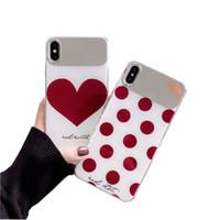 iphone neues handy großhandel-Für iphone xs max xr x 8 7 6 plus spiegel fall zurück für huawei p30 pro handy abdeckung schlank cartoon niedlichen design für mädchen neue mode