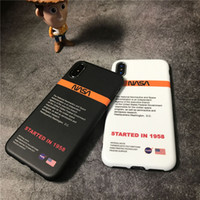 Wholesale huawei silicon cases online – custom Fashion US street Trend astronaut Space Soft off silicon cover for iphone pro max S S plus plus X XR XS white Max phone coque