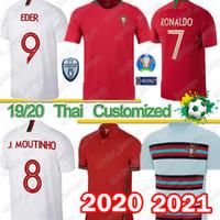 camisetas de futebol para equipes venda por atacado-equipe nacional Thai Portugal 2020 2021 nova camisa de futebol retro Portugal camisas de futebol Copa do Mundo África do Sul camisa RONALDO Nani Top
