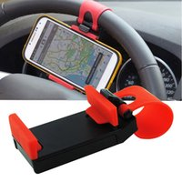 Wholesale car steering wheel mobile mount for sale - Group buy 1Pc Universal Car Steering Wheel Clip Mount Holder Stand Mobile Phone GPS Car Bracket Accessories