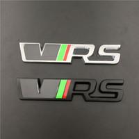 ingrosso adesivi skoda-Sostituito Autoadesivo in lega di zinco auto emblema in lega 3D per Skoda VRS Superb, Octavia, Fabia