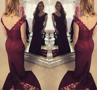 Wholesale mother court dress resale online - 2019 Elegant Mermaid Mother Of The Bride Dresses V Neck Sleeveless Lace Appliques Beaded V Back Wedding Guest Dress Party Evening Gowns wear