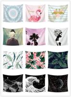 telones de fondo grandes al por mayor-200 * 150 CM tapiz Mandala colgante de pared 34 diseños de astrología impresa toalla de playa mantel de yoga estera de gran tamaño fiesta de fondo de la boda decoración