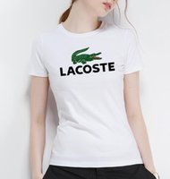 Wholesale french clothing sizes for sale - women clothes French brand crocodile print luxury womens designer t shirts summer cotton printing Women t shirt size S XL