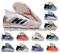 yeni çim futbol ayakkabıları toptan satış-Kapalı Turf İÇİNDE 2019 Yeni Predator 19+ TF PP Paul Pogba 19.1 Erkek Futbol Futbol Ayakkabı 19 + x 19 Kramponlar Çizme Ucuz Boyut 39-45