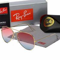 Wholesale aviator polarized for sale - Group buy Aviator Ray Sunglasses Men Vintage Pilot Band UV400 Protection Bans Women Ben Wayfarer Sun Glasses with Box Case