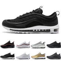 sapatos de corrida planos para mulheres venda por atacado-Novos Homens Mulheres Low 97 Almofada Respirável Sapatos Casuais Barato Massagem Running Flat Sneakers 97 Esportes Ao Ar Livre Sapatos EUA 5.5-11