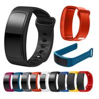 спортивные наручные часы наручные оптовых-Для Samsung Gear Fit 2 SM-R360 часы браслет ремешок для часов спортивные силиконовые часы замена браслет ремешок браслет