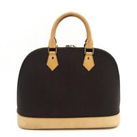 cheque de diseñador al por mayor-¡Envío gratis! ALMA BB Shell bag Bolsos de cuero de alta calidad Clásico Damier Famoso diseñador de la marca Bolsos bolso de control M53151