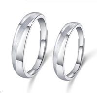 anéis em branco ajustáveis em prata venda por atacado-Real 925 Sterling Silver Simples Anel de Banda De Casamento Em Branco Designs Masculino Feminino Anéis Personalizados para Casais Tamanho Ajustável