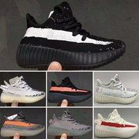 sapatilhas de zebra venda por atacado-Adidas Yeezy 350V2 Kanye West 35 V20 Static Running Shoes Zebra Beluga 2.0 Manteiga De Gergelim Produzido Preto Cobre Laranja Listras Atletismo Sneakers