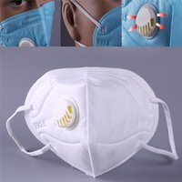 Wholesale red mouth mask for sale - Group buy New High Quality Anti haze Mouth Masks With Valve Washable Replaceable Filter Activated Carbon Folding Dust Mask
