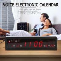 ingrosso calendario orologio analogico-1 pz Electronic Voice Music Calendario perpetuo USB Digital Display Temperatura Clock EU Plug Digital Analog-Digital Clock