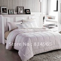 ingrosso quilt di qualità del regno-Luxurious-King-240X210cm-Winter-White - 550 GSM-Best-Quality-100% -Australian Wool Duvet Quilt Comforter Doona O Make Any Size