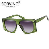 Wholesale sun visors sunglasses resale online - SORVINO Vintage Shades for Women Luxury Visor Sunglasses Men Oversized Futuristic s Brand Designer Pilot Sun Glasses P362