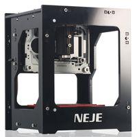 pcb makineleri toptan satış-NEJE KZ 2000 mW 405nm AI Gravür Makinesi Ahşap Router Lazer Yazıcı Kesme Oyma Kesici