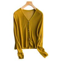 tricots de mode gratuits achat en gros de-Femmes Veste Cardigans 100% Lin Printemps Eté Vneck Mode Outwear Dames 4Colors Nouveau Mode Pull Tricots Livraison Gratuite