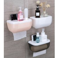dispensadores de papel higiénico al por mayor-3colors del rollo de papel higiénico titular de baño caja de pañuelos dispensador a prueba de agua Fácil Instalación