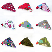 Wholesale large pet bandana resale online - 19 Colors Cat Dog Bandana Bibs Scarf Dog Triangle Bibs Adjustable Pet Neckerchief Scarf Waterproof Saliva Towel for Small Medium Large Dogs