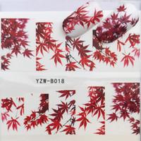 ingrosso autoadesivo foglia d'acero-31 Stili Red Maple Leaf / Fiori / Animali Nail Art Water Decalcomanie Sticker Decalcomanie Fai da te