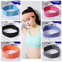 Wholesale sport head band men resale online - Outdoor running cycling headband sport fitness sweatband Anti skid bike cycling hair bands wome men yoga sweat wicking head bands ZZA663