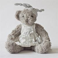 Wholesale teddy bear stuffed animals for sale - Group buy Lovely Plush Toys Teddy Bear Doll Stuffed Animals Pajamas Lovers Couple Gray Birthday Gift bd F1