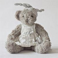 ingrosso pigiama animale orso-Simpatici giocattoli di peluche Teddy Bear Doll Animali di peluche Pigiami Amanti Coppia Regalo di compleanno grigio 62 4bd F1