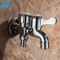 ingrosso rubinetto usato-Doodii ottone montaggio a parete finitura cromata rubinetto piccolo decorativo doppio rubinetto rubinetto da giardino rubinetto doppio uso rubinetti bibcock