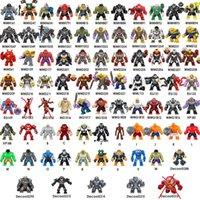 koruma blokları toptan satış-Yenilmezler Thanos Hulk Iron Man Oyuncaklar Mini Eylem Tuğlalar Noel Şekil Oyuncak toptan Yapı Taşları Süper Kahraman Büyük Jumbo Rakamlar