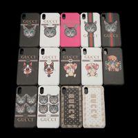 iphone hüllen tiere drucken großhandel-Für iphone x xs max xr 7 8p 6 6 s plus telefon case luxury animal print handy rückseitige abdeckung für iphone x 8 7 p 8 plus anti-kollision abdeckung