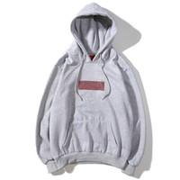 hoodies encapuzados de lã venda por atacado-Novo Co-Branded Diamond BOX Logo Moletom Com Capuz Hip Hop Streetwear Clássico Marca Designer Marka Velo Lã Moletom Com Capuz de Algodão Casal Moletom Com Capuz