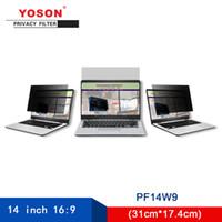monitor de filtro de privacidad al por mayor-Yoson 14 pulgadas panorámica 16: 9 Computer Filtro de privacidad / Anti peeping película / 310 mm * 174 mm