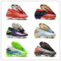 Wholesale gold youth cleats for sale - Group buy 2020 Designer Mens Laceless Messi Nemeziz FG Mens Youth Junior Football Boots Active Red Chrome High Top Shoes Soccer Cleats